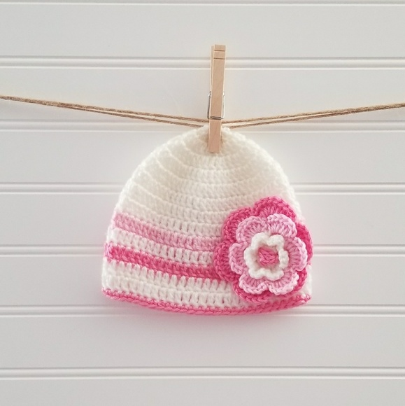 6c17bf5fb713f Boutique Other - Newborn Baby Girl s Crochet Beanie